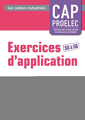 9782206100135: Exercices d'application CAP Proelec