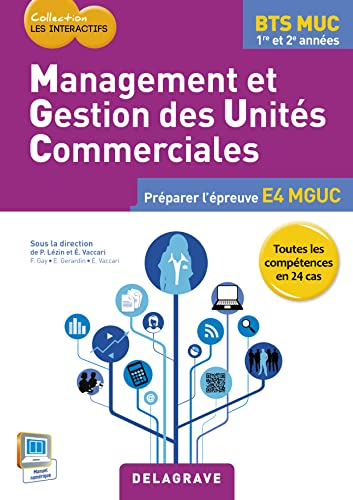 9782206201252: Management et gestions des unités commerciales BTS MUC : Livre de l'élève