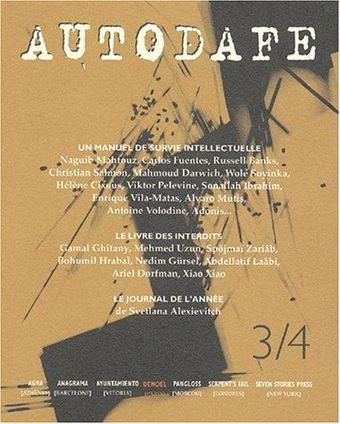 Un manuel de survie intellectuelle. Naguib Mahfouz,: AUTODAFE