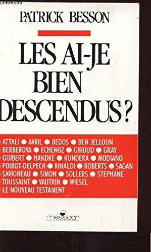 9782209066100: Les ai-je bien descendus? (French Edition)