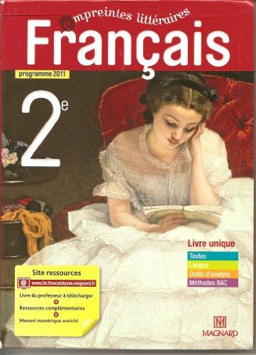 9782210064294: Empreintes littéraires : Français 2e, Programme 2011