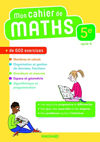9782210111714: Mathématiques 5e Mon cahier de maths