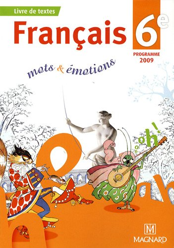 9782210166608 Francais 6e Mots Emotions Manuel Eleve