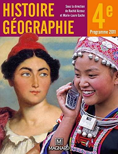 9782210167339: Histoire Géographie 4e : Programmes 2011, petit format