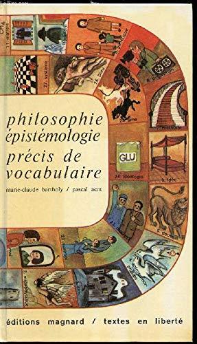9782210300002: Philisophie - épistémologie, précis de vocabulaire