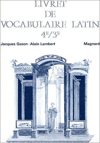 9782210477124: Livret de vocabulaire latin 4e et 3e