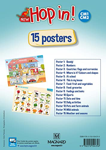 9782210504356: Lot 15 Posters New Hop in ! CM1-CM2 2019