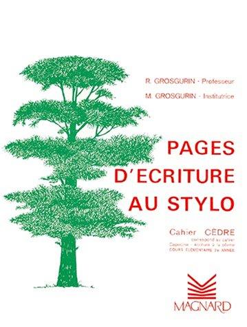 9782210729902: Cahier stylos-bille : Cèdre CE2