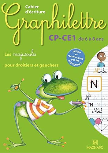 9782210746886: Cahier d'ecriture Graphilettre CP-CE1 de 6 à 8 ans : Les majuscules pour droitiers et gauchers (French Edition)