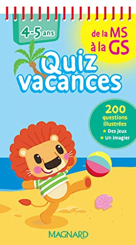9782210753426: Quiz vacances : De la Moyenne Section à la Grande Section