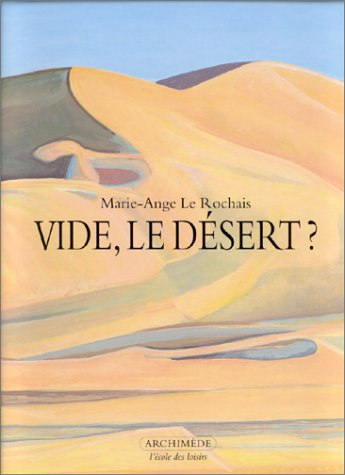 9782211050272: Vide le desert
