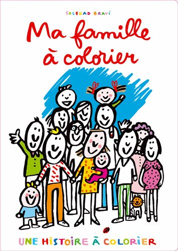 9782211211086: Ma famille � colorier