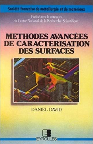 Méthodes avancées de caractérisation des surfaces: D. David