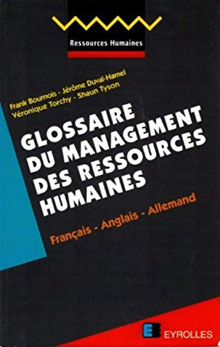 9782212035735: Glossary of Human Resources Management German-English-French