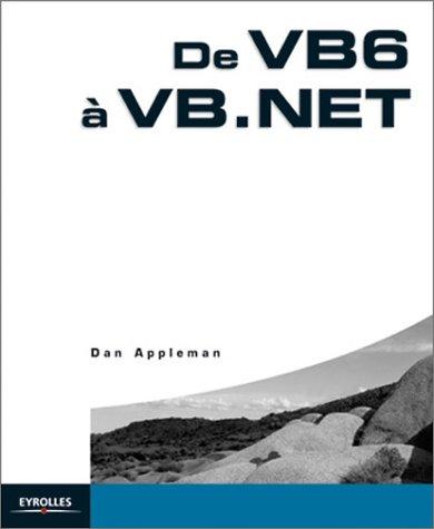 9782212110371: De VB6 à VB.NET