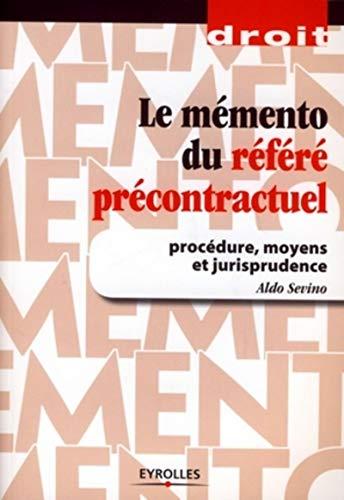 9782212122602: Le mémento du référé précontractuel (French Edition)