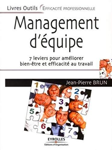 9782212542356: Management d'équipe : 7 leviers pour améliorer bien-être et efficacité au travail