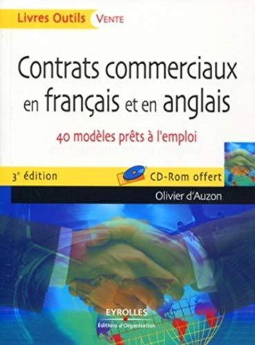9782212547078: Contrats commerciaux en français et en anglais : 40 modèles prêts à l'emploi