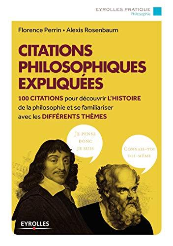 9782212559736: Citations philosophiques expliquées