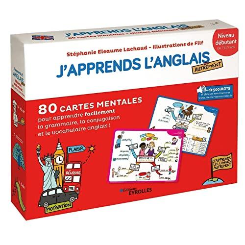 9782212571066: J'apprends l'anglais autrement - Niveau débutant: 80 cartes mentales pour apprendre facilement le vocabulaire, la conjugaison et la grammaire anglaise