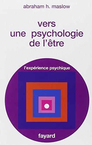 9782213004112: Vers une psychologie de l'Être