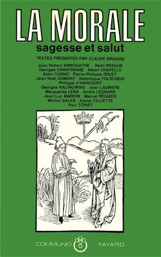 9782213009803: La Morale: Sagesse et salut (Communio) (French Edition)