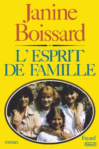 9782213011929: L'esprit de famille: Roman (French Edition)