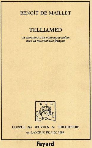 9782213015057: Telliamed ou Entretiens d'un philosophe indien avec un missionnaire français sur la diminution de la mer