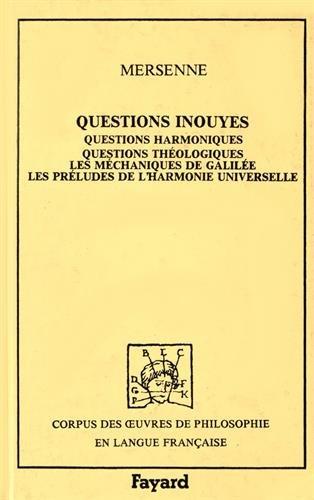 9782213015279: Questions inouyes 1634. Corpus des oeuvres de philosophie en langue française