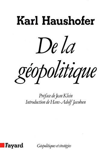 9782213017327: De la géopolitique