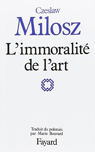 9782213020723: L'immoralite de l'art (French Edition)