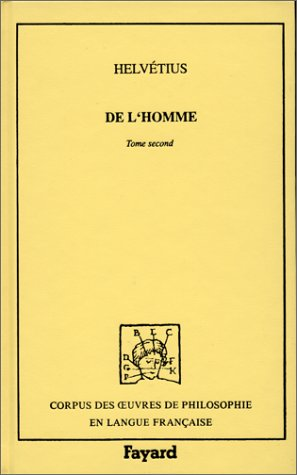 De L'homme. Tome second.: HELVETIUS (Claude-Adrien)