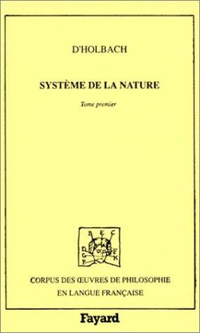 9782213026268: Syst�me de la nature : Tome 1
