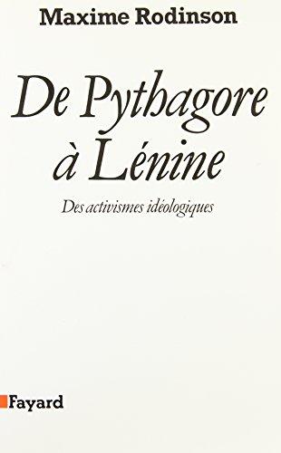 9782213030272: De Pythagore à Lénine: Des activismes idéologiques