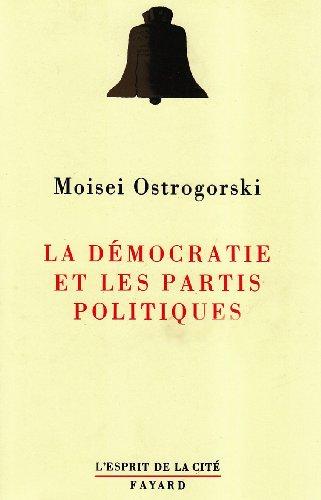 9782213030784: La démocratie et les partis politiques