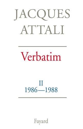 9782213032016: Verbatim : Tome 2, 1986-1988