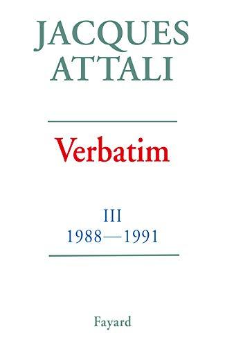 9782213594248: Verbatim. Tome 3, Chronique des années 1988-1991