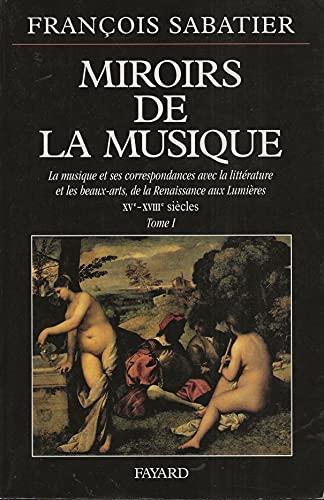 MIROIRS DE LA MUSIQUE Sabatier, F