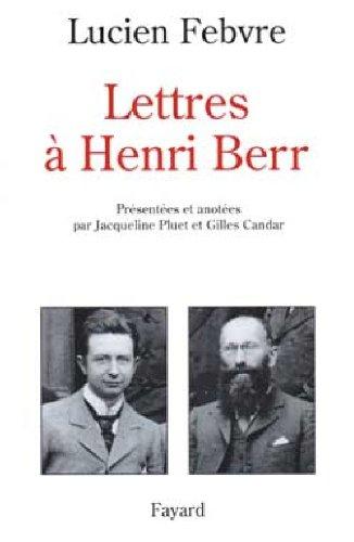 9782213595665: Lettres à Henri Berr