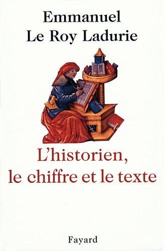 9782213598109: L'Historien, le chiffre et le texte