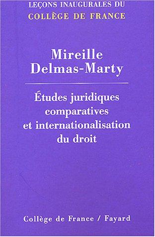 9782213617138: Etudes juridiques comparatives internationales