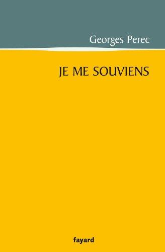 9782213662756: Je Me Souviens (French Edition)