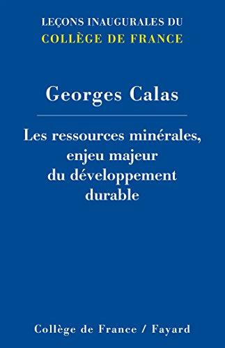 9782213687339: Les ressources minérales, enjeu majeur du développement durable