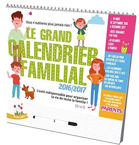 9782215131427: Le grand calendrier familial 2016-2017