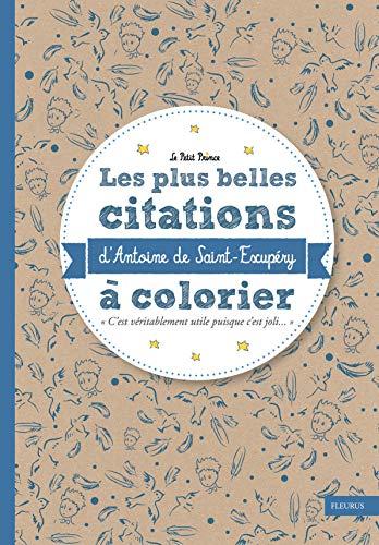 9782215131953: Les plus belles citations d'Antoine de Saint-Exupéry à colorier