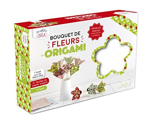 9782215137313: Bouquet de fleurs origamis : Avec 51 feuilles de papier origami et 10 tiges