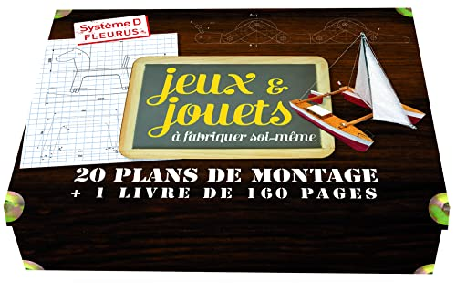 9782215147367: Jeux & jouets à fabriquer soi-même : Coffret avec 30 plans de montage et un 1 livre