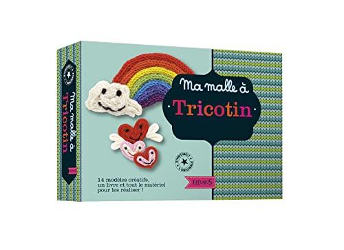 9782215157496: Ma malle à tricotin : Contient : 1 livre de modèles, 1 aiguille à laine, 5 pelotes de laine, 1 tricotin en bois et son aiguille