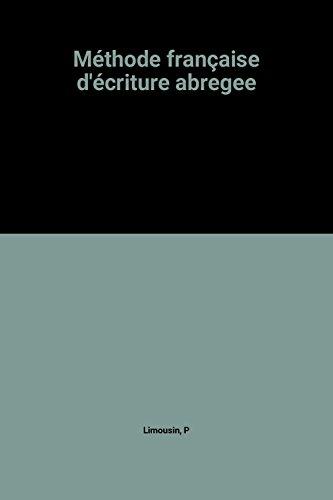 9782216006878: Méthode française d'écriture abregee