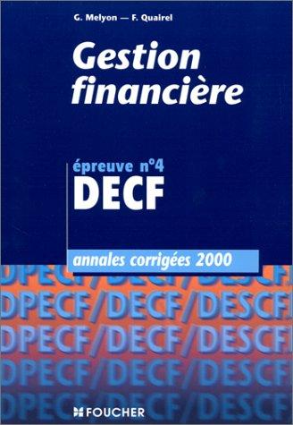 9782216084531: Annales DECF, 2000 : gestion financière